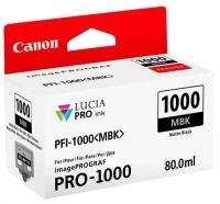 PFI-1000MBK Чернильница матовая черная для Canon imagePROGRAF PRO-1000, 80мл