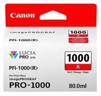 PFI-1000R Чернильница красная для Canon imagePROGRAF PRO-1000, 80мл