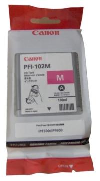 PFI-102M Чернильница малиновая для плоттеров Canon imagePROGRAF iPF510/605/610/650/655/750/760/765
