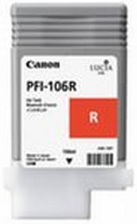 PFI-106R Чернильница красная для плоттеров Canon imagePROGRAF iPF6400/6400SE/6450, 130мл
