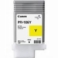 PFI-106Y Чернильница желатя для плоттеров Canon imagePROGRAF iPF6400S/6400SE, 130мл