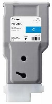 PFI-206C Чернильница синяя для плоттеров Canon imagePROGRAF iPF6400/6400SE/6450, 330мл
