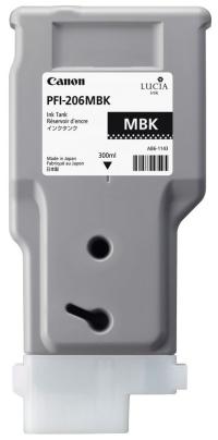 PFI-206MBK Чернильница матовая черная для плоттеров Canon imagePROGRAF iPF6400/6400SE/6450, 330мл