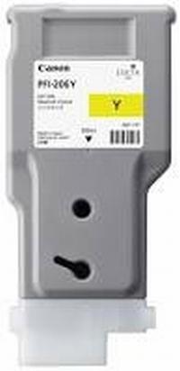 PFI-206Y Чернильница желтая для плоттеров Canon imagePROGRAF iPF6400/6400SE/6450, 330мл
