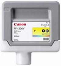 PFI-306Y Чернильница желтая для плоттеров Canon imagePROGRAF iPF8400/8400S/8400SE/9400/9400S, ресурс 330мл